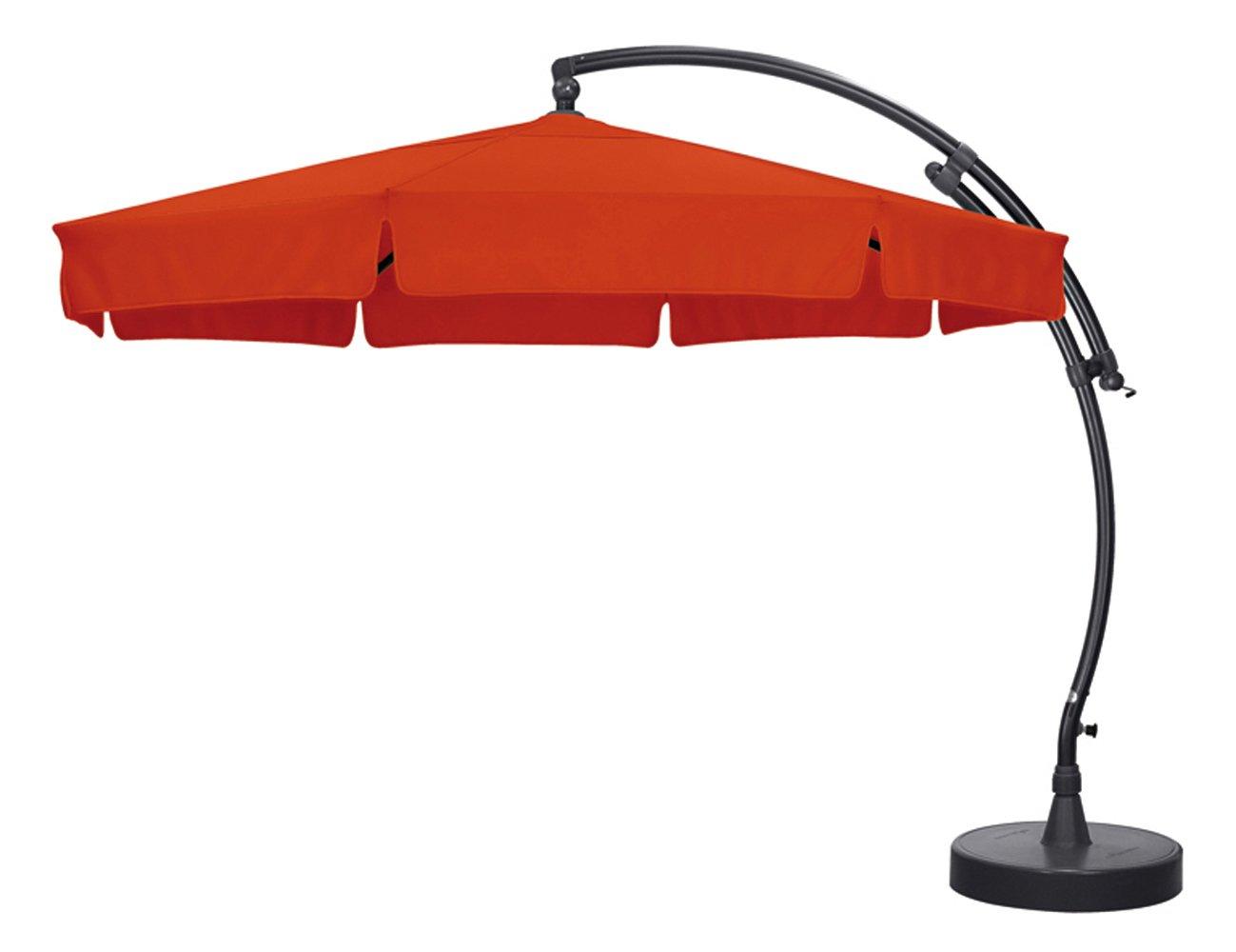 Sun Garden 10116059 Ampelschirm Easy-Sun, Polyester, ø 3.5 m, anthrazit / terracotta