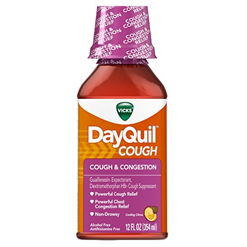 Vicks Dayquil Cough and Congestion Relief, Cooling Citrus Flavor Liquid, 12 Fl Oz (12 Count) by Vicks