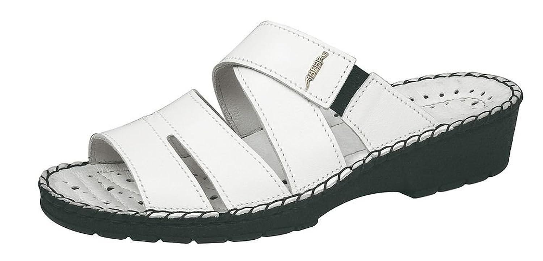 Abeba Sandale Reflexorreg Aus Leder weisss Billig und erschwinglich Im Verkauf