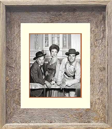 14x17 Real Old Barnwood Framed Print Gunsmoke Chester Doc (Kitty From Gunsmoke)
