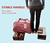 Jeemiter Red stripe Luggage 20 Inch Rolling Duffle
