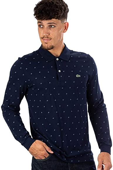 Lacoste Camisas Chemise Col Bord-cotes Ma Marine/Rois Azul Large ...