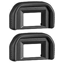AFUNTA 2 Pack Photo Eyepiece Viewfinder Eyecup for CANON Rebel (T5i T4i T3i T3 T2i T1i XTi XSi XS), CANON EOS (1100D 600D 550D 500D 450D 400D 350D 300D) DSLR Cameras