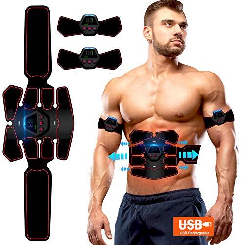 Elettrostimolatore Muscolare , EMS Suscolo Addominale,Ricarica USB ABS Trainer/Toner per Addome/Braccio/Vita/Gambe Home…