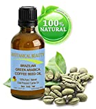Botanical Beauty BRAZILIAN GREEN ARABICA COFFEE SEED OIL. 100% Pure / Natural / Cold Pressed Carrier Oil / Undiluted. For Skin, Hair, Lip And Nail Care. Wrinkle Reducer, Skin Lift /Tone, Anti- Puffiness / Dark Circles, Anti Cellulite. (0.33 Fl.oz-10ml.)