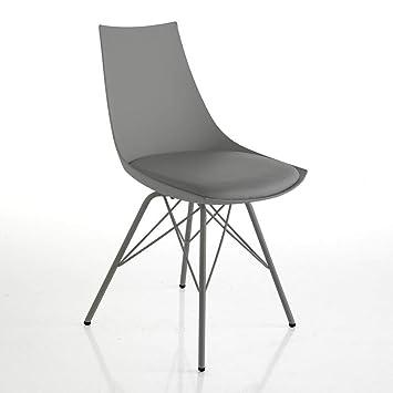 Tomasucci Kiki Grey Stuhl Kunstleder Grau 47 X 53 X 81 Cm