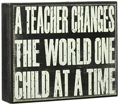 JennyGems- A Teacher Changes The World One Child at A Time, For Teachers, Teacher Appreciation Statement Gift, Gifts for Teachers, End of Year Present, Devotionals For Teachers,Teacher Signs, educator