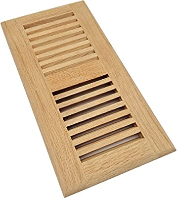 Homewell Solid Wood Floor Register Vent, Drop in Vent, 4x10 Inch, Unfinished