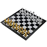Chess Set Magnetic Foldable Chess Board Game for Kids 6 Years Old