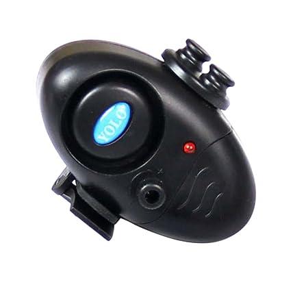 moresave LED brillante pesca Avisador de warnungs cañas Cargador Alarma luz rueda dentada picada, Negro