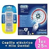 Oral-B Cepillo Eléctrico Recargable Bluetooth 5000 Smart Series y Floss Pro Salud, 25 m, 2 Piezas