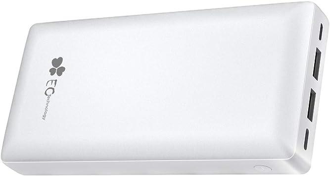 EC TECHNOLOGY Batería Portátil Móvil Powerbank 26800amh de Batería Externa de Cargador Externo de Carga Rapida de 2 Puertos de 2.4A de Output USB C y Micro para Smartphone y Tableta: Amazon.es: