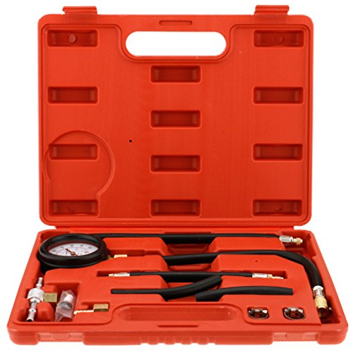 1 Set Fuel Injection Pump Pressure Tester Injector Test Pressure Gauge w/Case by SING F LTD