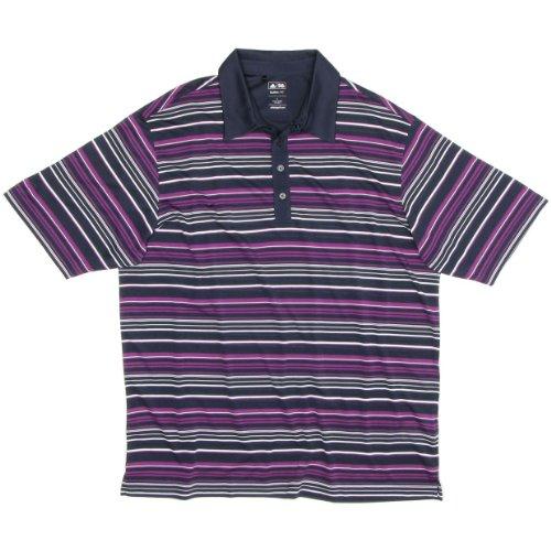 Clima Soccer Polo (Adidas engineered stripe polo qtz/huc/wht)