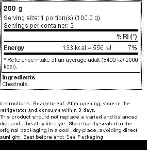 Castañas al vapor Prozis 200 gr: Amazon.es: Alimentación y bebidas
