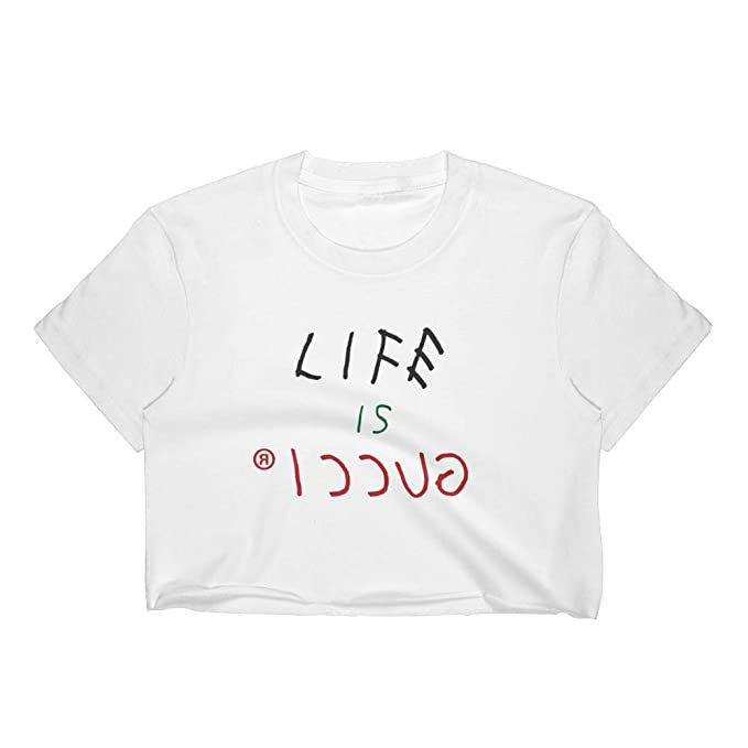 33d3f591fea Life is Gucci Crop Top at Amazon Women's Clothing store:
