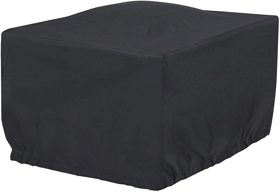 J&C 97x97x35inch Patio Furniture Cover, Outdoor Square Patio Furniture Set Covers Furniture Table Cover, Black Durable Waterproof Dust Proof Protection Covers for Garden Lawn Furniture Sets