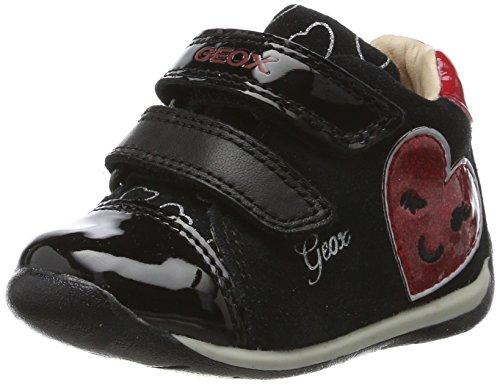 Geox B Each C, Zapatillas para Bebés Negro (Black/red)