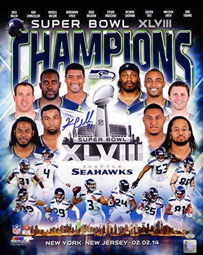 Kam Chancellor Autographed 16x20 Photo Seattle Seahawks Super Bowl MCS Holo Stock #72480