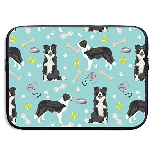 CRSJBB219 Border Collie Toys Sports Balls Laptop Sleeve Bag 13 15 Inch Notebook Computer PC Neoprene Protection Case Cover Pouch Carrier Holder