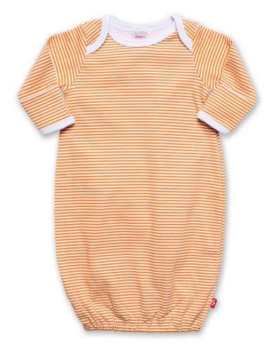 Stripe Candy Gown (ZUTANO Candy Stripe Gown, Orange, Newborn)