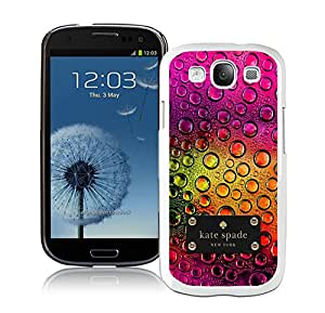 Galaxy S3 I9300 Phone Case Kate Spade New York Hardshell Case for Samsung Galaxy S3 i9300 Cover 69 White