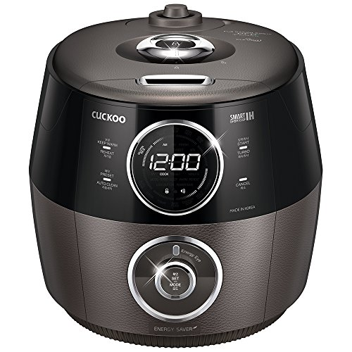 Cuckoo CRP-GHSR1009F Full Stainless 3.0 Classico Smart IH 10 Cup Electric Pressure Rice Cooker, 120V, Titan Silver