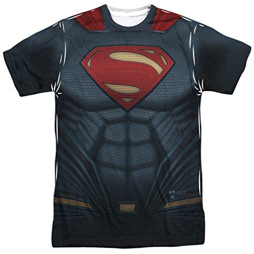 DC Comics Superman Costume - Batman Vs. Superman All-Over Front/Back T-Shirt, XX-Large]()