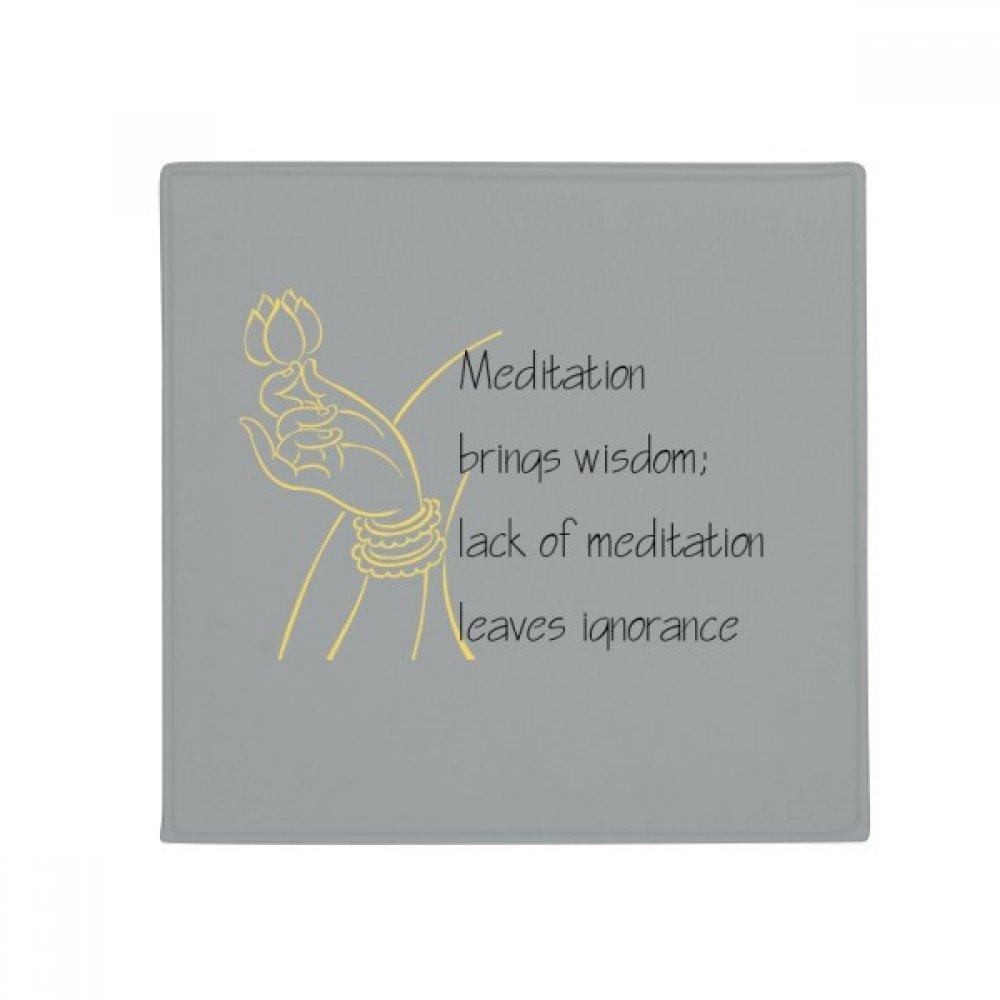 DIYthinker Meditation Brings Wise Buddha Quote Anti-Slip Floor Pet Mat Square Home Kitchen Door 80Cm Gift