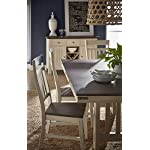 "A-America Bremerton 60"" - 78"" Trestle Table with Slat Base Saddle Dust/Oyster"