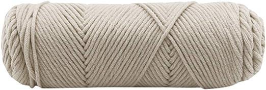 Hilo de algodón para tejer, 100 g de grosor, 8 hebras, tejido a mano, hilo de algodón de leche, hilo de tejer a mano d: Amazon.es: Hogar