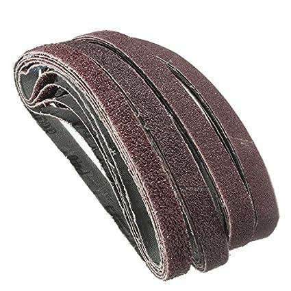 ChenXi Shop 10 Pieces 457x13mm Alumina Abrasive Sanding Belts 1000 Grit