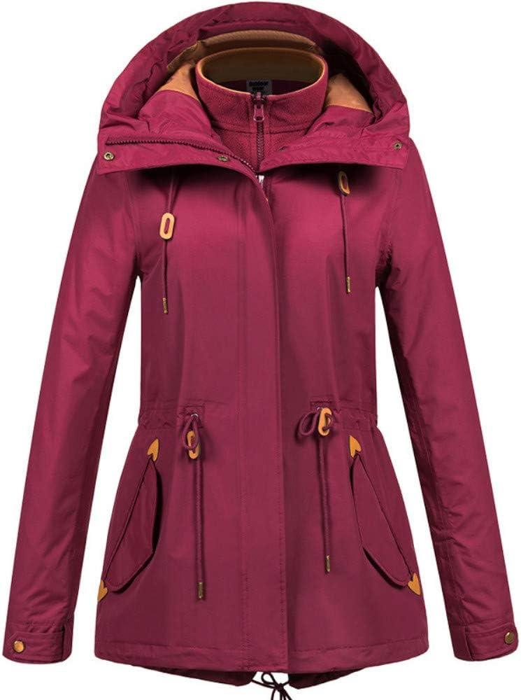 スキースーツ 女性の屋外防水ジャケット山防風デザイン軽くて暖かい快適なフリースライニング 防水性と防風性を備えたスキージャケット (色 : 赤, サイズ : XL) 赤 X-Large