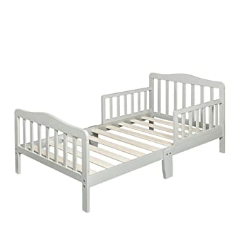 Amazon Com Bonnlo Contemporary Wooden Toddler Bed Sturdy Bedframe