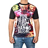 Miracle(Tm) You Cant Fight Thanos Alone Characters Printed T Shirt - Mens Adult Shirt (Thanos Characters-M)