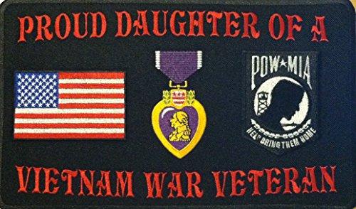 PROUD DAUGHTER OF A VIETNAM WAR VETERAN PURPLE MEDAL HEAR...