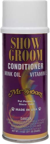 Mr. Groom Show Groom Finishing Pet Conditioner Spray, 11-oz bottle