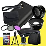 Canon EOS 70D DSLR Camera with 18-55mm STM f/3.5-5.6 Lens LP-E6 Lithium Ion Replacement Battery + 58mm 3 Piece Filter Kit + 58mm 2x Telephoto Lens + 58mm Wide Angle Lens + Mini HDMI Cable + Multi Card USB Reader + Memory Card Wallet + Deluxe Starter Kit