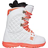 DC Women's Karma Lace Up Snowboard Boots, White, 5