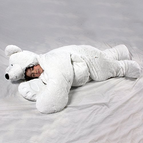 SnooZzoo Polar Bear children's stuffed animal sleeping bag. GIANT!! 66 inches tall.