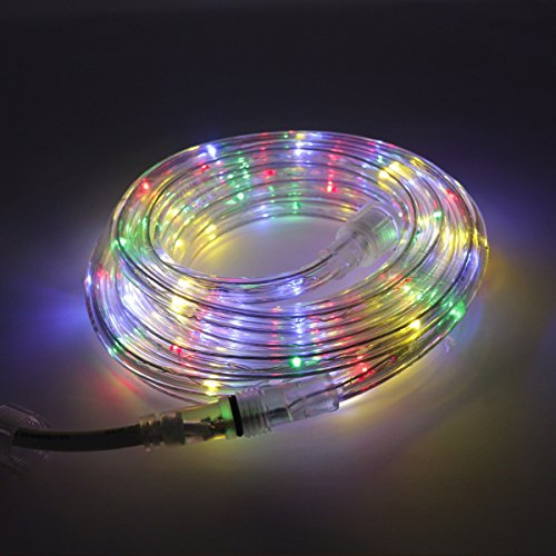 KXY UL Certified 16 Feet 80 LED Connectable Rope Tube Light Indoor Outdoor Party Holiday Light Multi-colored