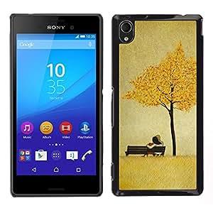 iBinBang / Funda Carcasa Cover Skin Case - Las hojas de oro de Brown del amor de Pareja - Sony Xperia M4 Aqua