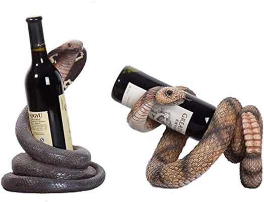 ZXPYZ Wine Holder Modern Style Wine Rack Perfect for Bar, Wine Cellar, Basement, Cabinet, Pantry, etc Elegant Space Saving - Rattlesnake