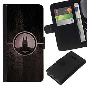 JackGot ( Dark Bat Superhero ) Samsung Galaxy Core Prime la tarjeta de Crédito Slots PU Funda de cuero Monedero caso cubierta de piel