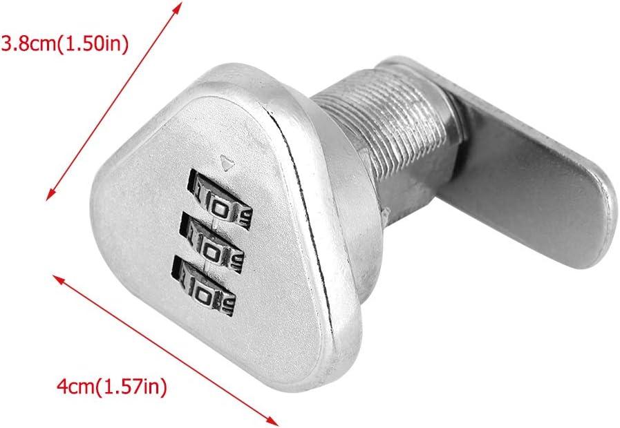 Smandy 3 stellige Code Kombination Nockensperre Keyless Security Cabinet Lock Bequemes Passwort Sicherheit Codiertes Schloss Zink Legierung Passwort Codiertes Schloss L19