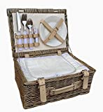 Red Hamper FH055C 2 Person Fitted Picnic Basket with Chiller, Brown, 26 x 36 x 15 cm