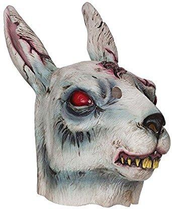 Bristol Novelty BM478 Zombie Rabbit Mask, One -