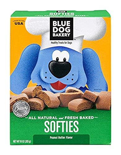 Blue Dog Bakery Natural Soft Dog Treats, Peanut Butter Flavor Softies, 10 Ounce (Pack of 6)