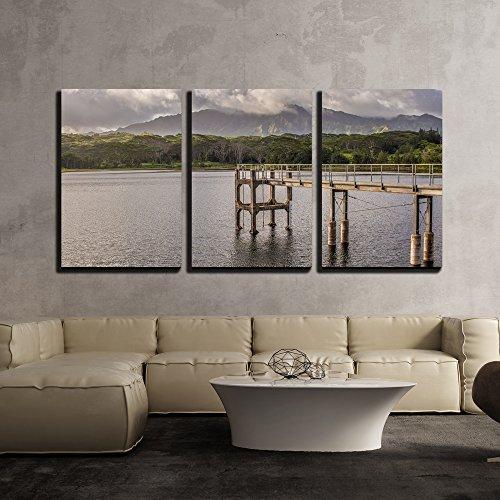 Landscape with Bridge Above The Lake x3 Panels