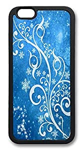 ACESR Blue Winter Rugged iPhone 6 Case TPU Back Cover Case for Apple iPhone 6 4.7inch Black